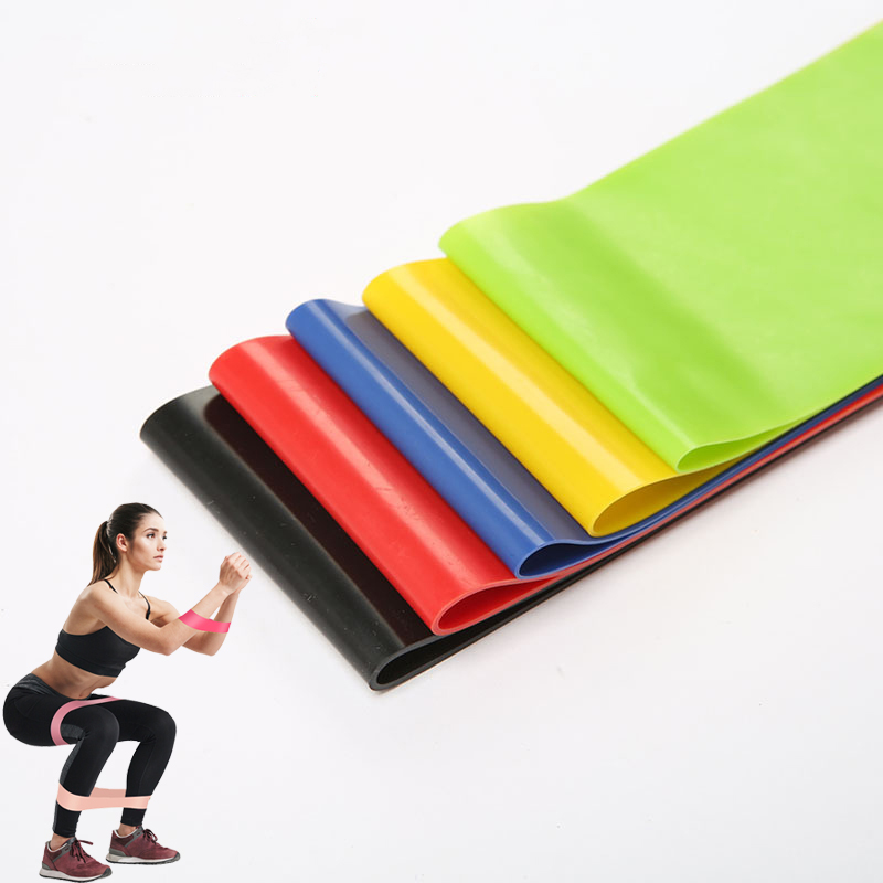 5 Levels Yoga Resistance Rubber Bands Indoor Outdoor Fitness Equipment 0.35mm-1.1mm Pilates Sport Training Workout Elastic Bands
