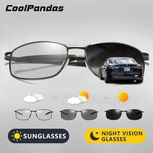 Image 1 - Солнцезащитные очки овальной формы для мужчин и женщин, небольшие поляризационные фотохромные очки для вождения