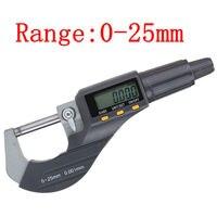 1 pces micrômetro eletrônico durável digital 0-25mm 0.001mm/0.00005