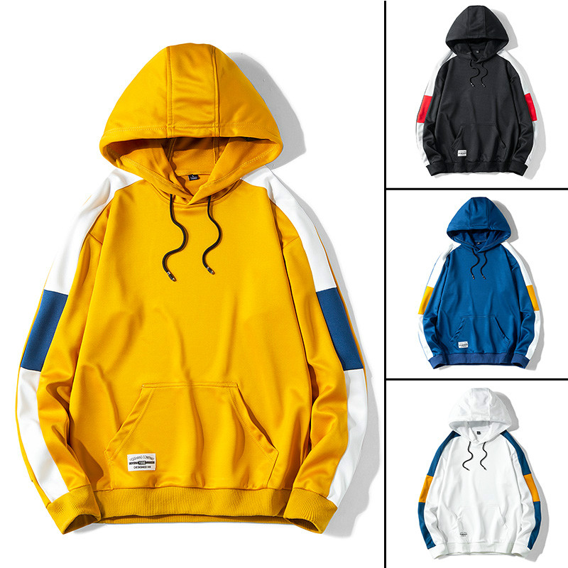 Casual Sweatshirt Hooded Man 2020 Autumn Men's Hoodies Streetwear Sweatshirts For Men Solid Color Pullover High Quality Spring
