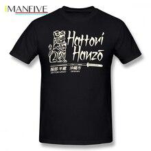 Hanzo T-Shirt Hattori T Shirt Letter Print Graphic Awesome Tee Short Sleeve 4xl 100 Cotton Male Basic Tshirt