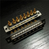 Coaxial Signal Connector D SUB Connector 8W8 Solder Wire RF Male Head|  -