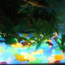Home Luminous Pebbles Glow Stone Decoration Multicolor Fish Tank Landscaping Garden Fluorescent Colorful