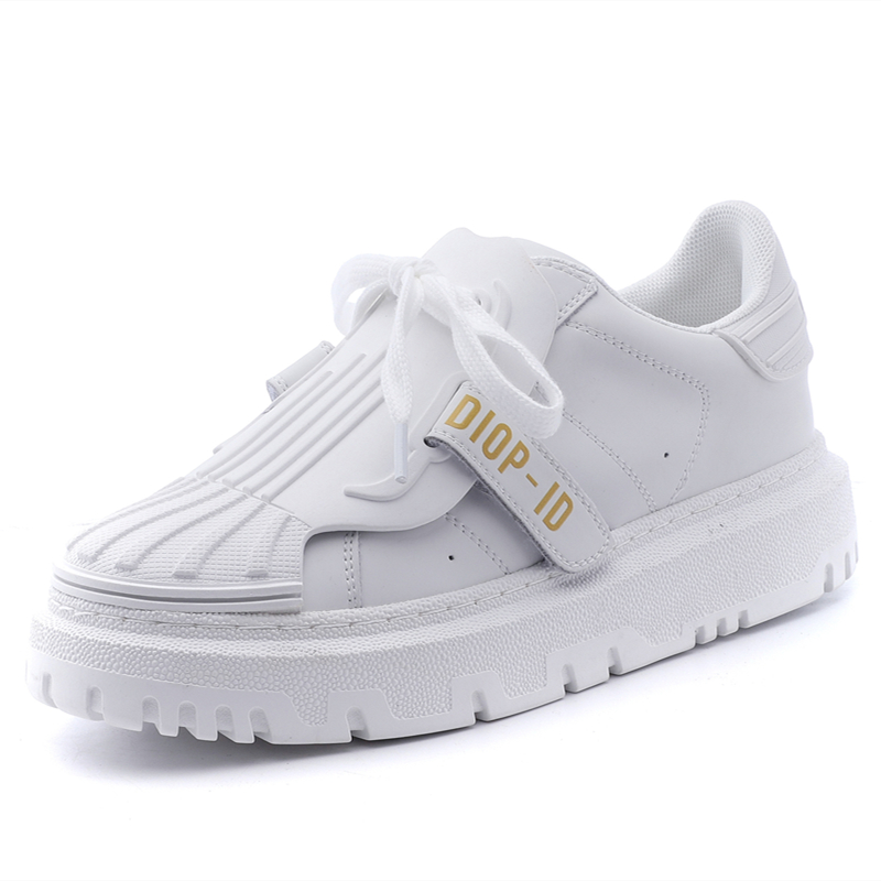 Spring Autumn New Women's Shoes Retro White Khaki Vulcanized Shoes Female Korean Sports Shoes Tide Wild Thick-Soled Casual Shoes