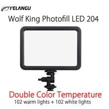LED 204 Video Licht Vlog Dimmbare Foto Studio Füllen Beleuchtung Lampe 3500-5700K für Canon Nikon Sony DSLR kameras & Smartphone