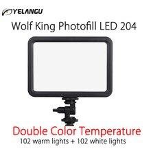 LED 204 الفيديو الضوئي Vlog عكس الضوء استوديو الصور ملء الإضاءة مصباح 3500 5700K لكانون نيكون سوني كاميرات DSLR والهاتف الذكي