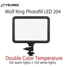 Luz LED 204 para vídeo Vlog, lámpara de iluminación regulable para estudio fotográfico, 3500 5700K, para Canon, Nikon, cámaras DSLR de Sony y teléfono inteligente