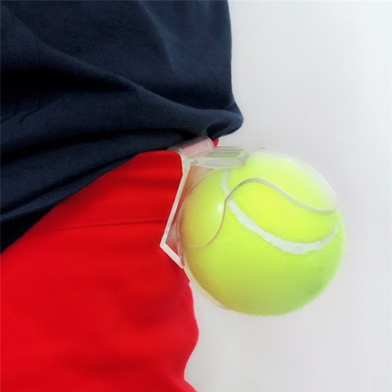 Professional Tennis Ball Holder Tennis Balls Clip Waist Clips Transparent Holds Training Equipment Tennis Ball Accessories ZL07