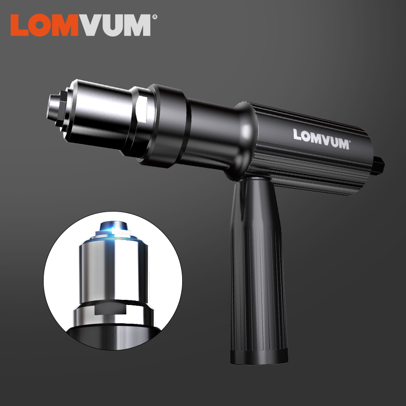 LOMVUM New Electric Rivet Multifunction Riveting Drill Adapter Gun Auto Rivet Electric Nut Gun Tool Cordless Electric Drill Tool(China)