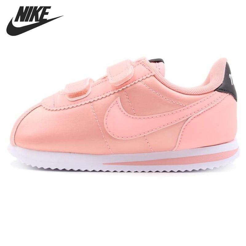 Original New Arrival NIKE CORTEZ BASIC TXT VDAY (TDV) Kids Shoes Children Sneakers