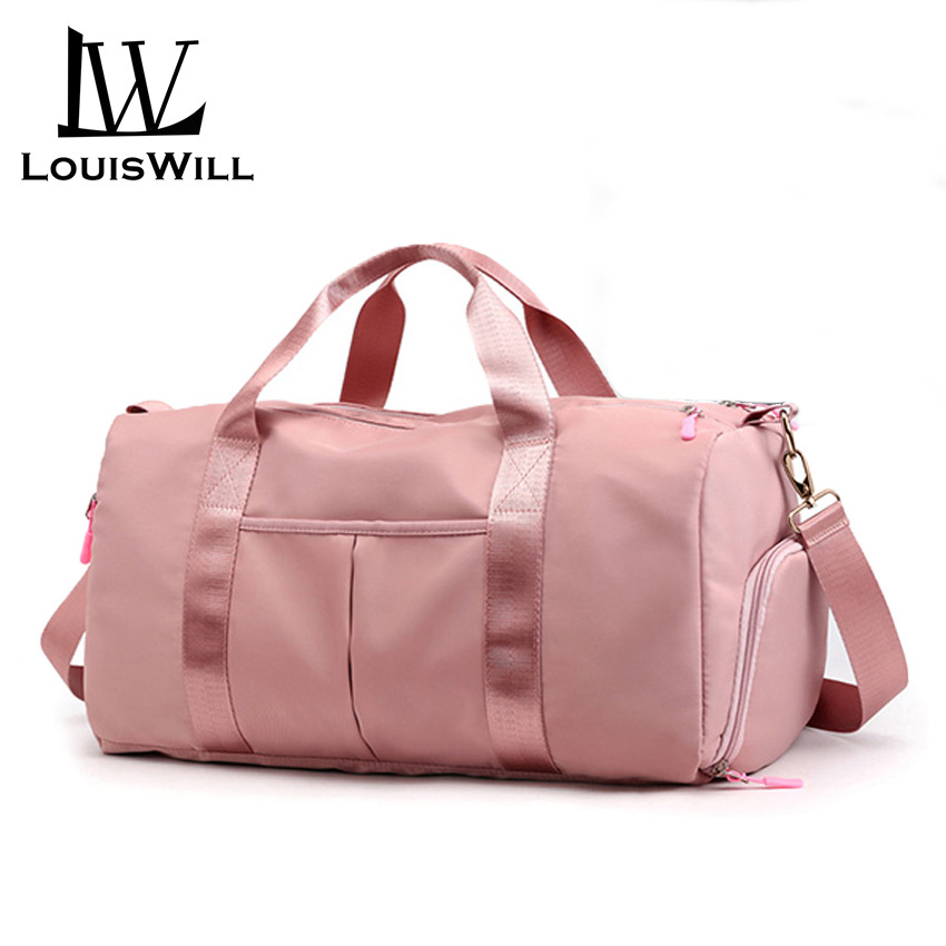LouisWill Women Travel Bag Waterproof Weekender Bags Oxford Cloth Luggages Handbag Shoulder Bag Traveling Bag Dry And Wet