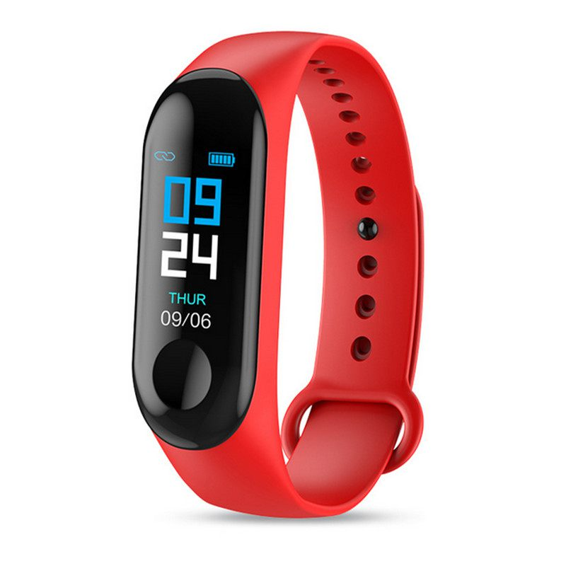 M3 Color Screen Smart Bracelet Sports Fitness Watch Pedometer Tracker Heart Rate Monitor Blood Pressure Smart Wristband