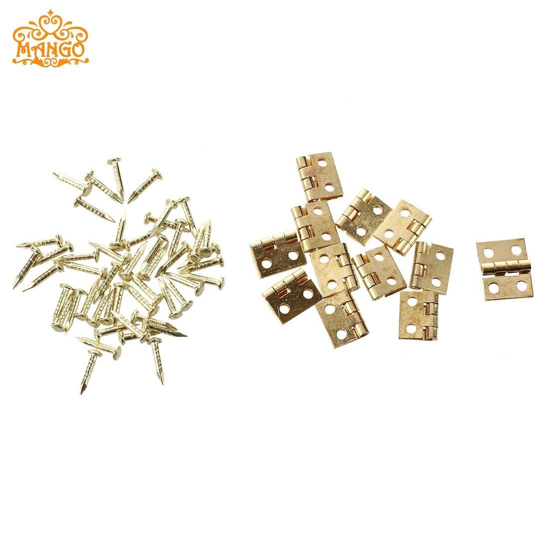 Doll House Dollhouse Model Mini Copper Hinge Building Model Material 12 Hinge + 48 Screw ~