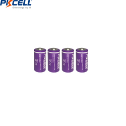 4PCS/lot PKCELL  ER14250 14250 1/2 AA Battery 3.6V 1200mAh LiSOCl2 Lithium Battery Batteries for GPS/Electricity/Water/Gas Meter