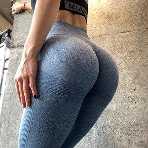 LANTECH для женщин тренажерный зал Йога Бесшовные Брюки Спортивная одежда эластичные с высокой талией спортивные тренировки Фитнес Леггинсы Activewear брюки