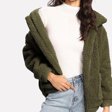 Liva girl 2019 Winter arrival Women Cotton Fluffy Long Sleeve Jacket Ladies Warm Outerwear Cardigan Coat