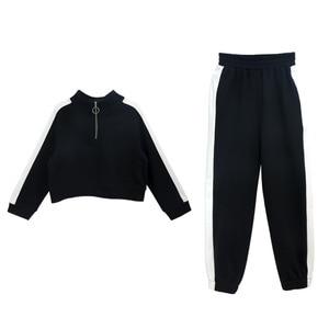 Image 5 - חדשה באיכות גבוהה אביב סתיו בני נוער בנות ספורט סט נקבה ילדים מקרית סוודר חליפת ילדי בגדי בני נוער אימוניות CA578