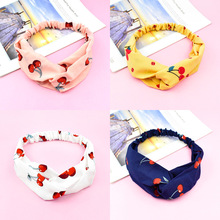 1 PC Fashion Cherry Printed Hair Band Women Makeup Headband Exquisite Chic Accessories Gift