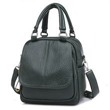 цены Women Backpack Mochila Satchel PU Leather School Bag Student Travel Shoulder Bag JS041