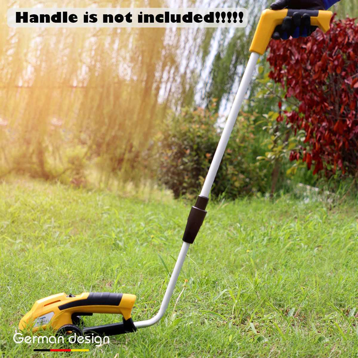 2in1 Li-Ion Battery Pruning Tool Cordless Hedge Trimmer Grass Trimmer Brush Cutter Shrub Shear Garden Tools