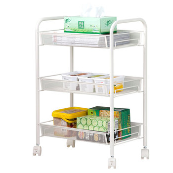 Kitchen racks floor pulleys removable trolleys multi layer storage items refrigerator side  shelves