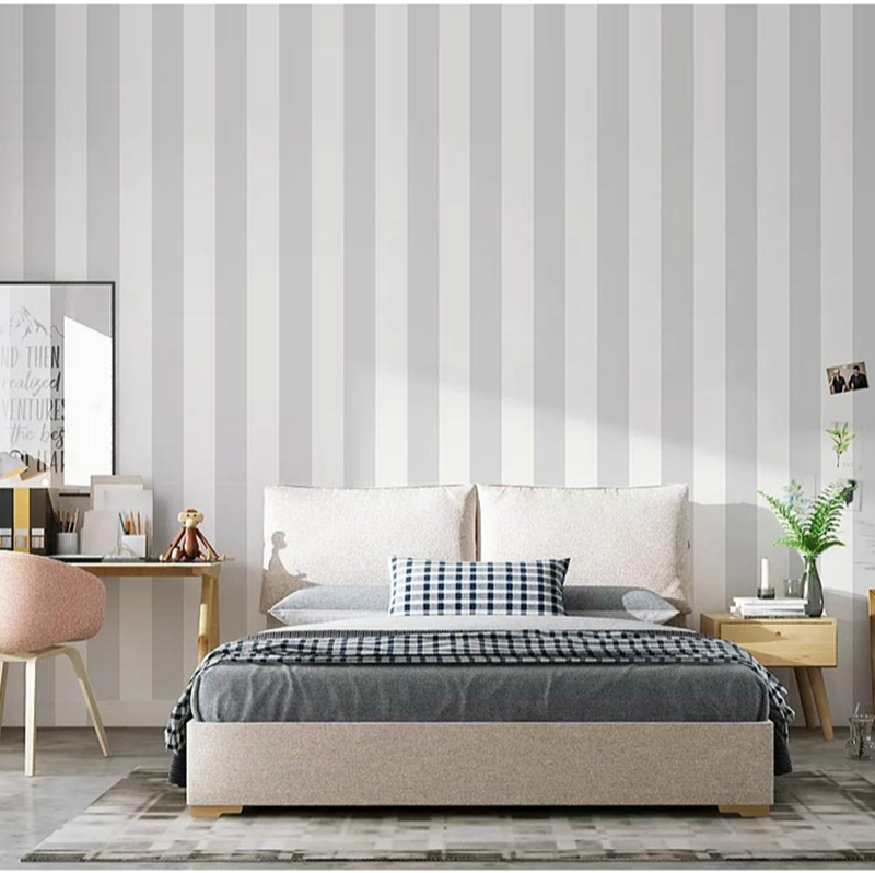 Striped Vertical Modern Minimalist Wallpapers Classic Wall Paper Design Black White Wallpaper  Decoration