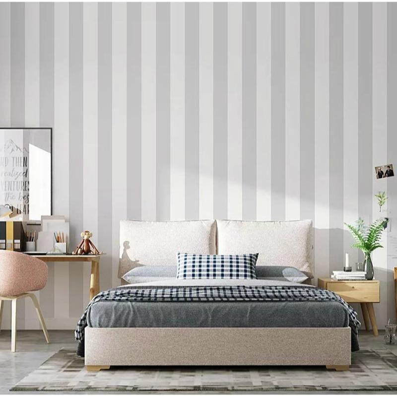 Striped Vertical Modern Minimalist Wallpapers Classic Wall Paper Design Black White Wallpaper  Decoration