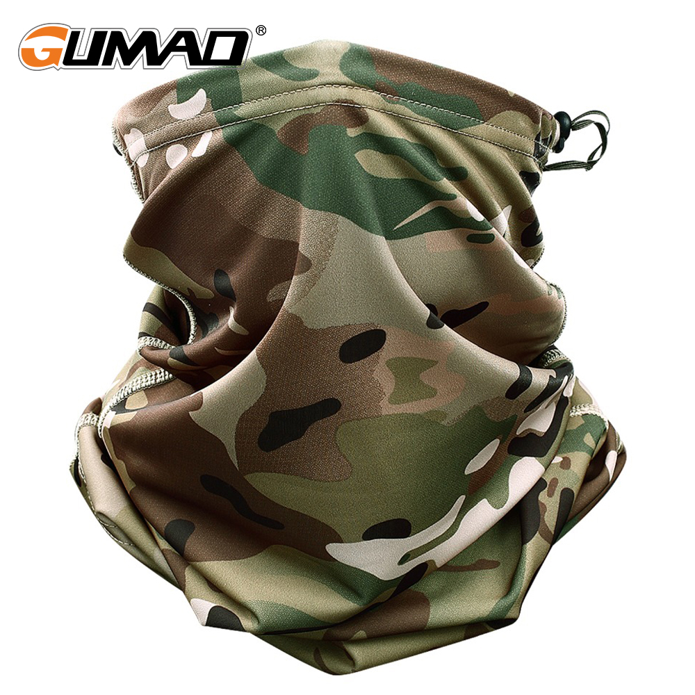 Multicam Camo Tactical Mask Neck Gaiter Cover Face Bandana Sun Cool Military Cycling Hunting Hiking Camping Tube Scarf Men Women