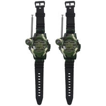 Buy 1 Pair LCD Radio 150M Watches Walkie Talkie 7 in 1 Children Watch Radio Outdoor Interphone Toy (Color: Green) Educational toys directly from merchant!