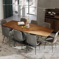 Обеденный стол, деревянная мебель с металлическим основанием, 2020
