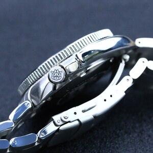 Image 5 - Стальные dive Pro Diver часы 200 м водонепроницаемые NH35 автоматические часы мужские сапфировые Кристаллы из нержавеющей стали роскошные механические часы для дайвинга