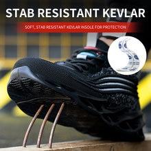 Дышащая мужская защитная обувь со стальным носком защита от