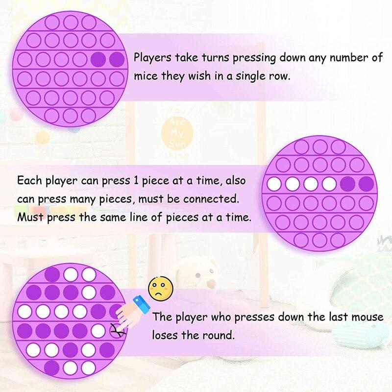 Push-Bubble-Toys Sensory Toys Autism It Fidget Decompression Squeeze Stress Reliever img4