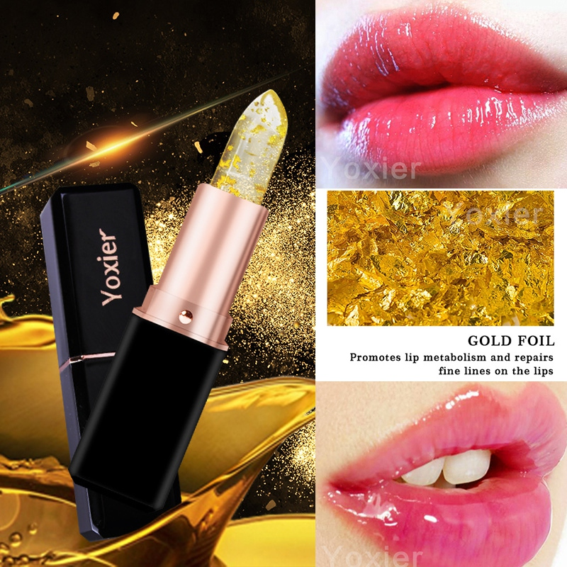 24K Gold Olive Oil Lip Balm Moisturizing Natural Colorless Refine Repair Wrinkles Makeup Lipstick Treatment 1Pcs New Brand image