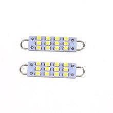 2 pces 44mm 12-smd led interior festão laço rígido led lâmpada de luz 561 562 563 570 sinal luzes do carro exterior acessórios