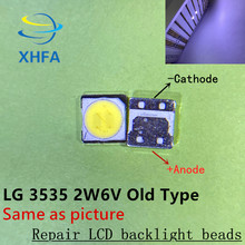 100PCS FOR LCD TV repair LG led TV backlight strip lights with light-emitting diode 3535 beads 6V SMD LED(China)
