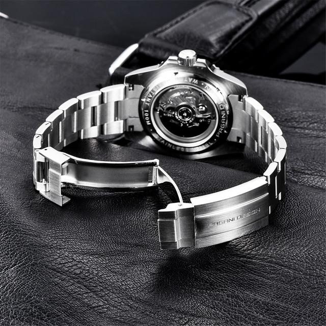 2021 PAGANI Design New 40mm Men Luxury Automatic Mechanical Wrist Watch Men Stainless Steel Waterproof Watch Relogio Masculino 6