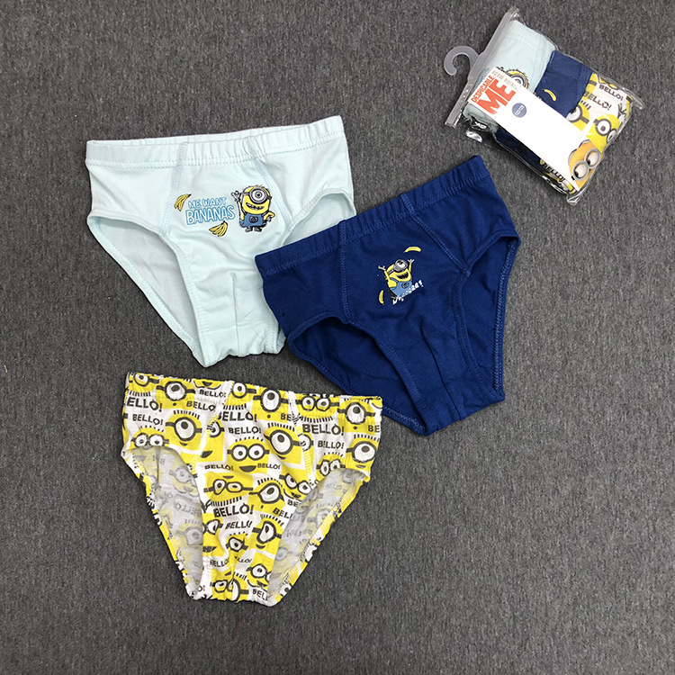 2019 New Cartoon Kid Underwear 3pcs/lot Baby Boy Panties Cotton Panties For Children Shorts For Boys Children's Briefs