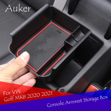 Car Interior Decoration Console Armrest Container Storage Box Refit Accessories Styling For VW Golf 8 MK8 2020 2021