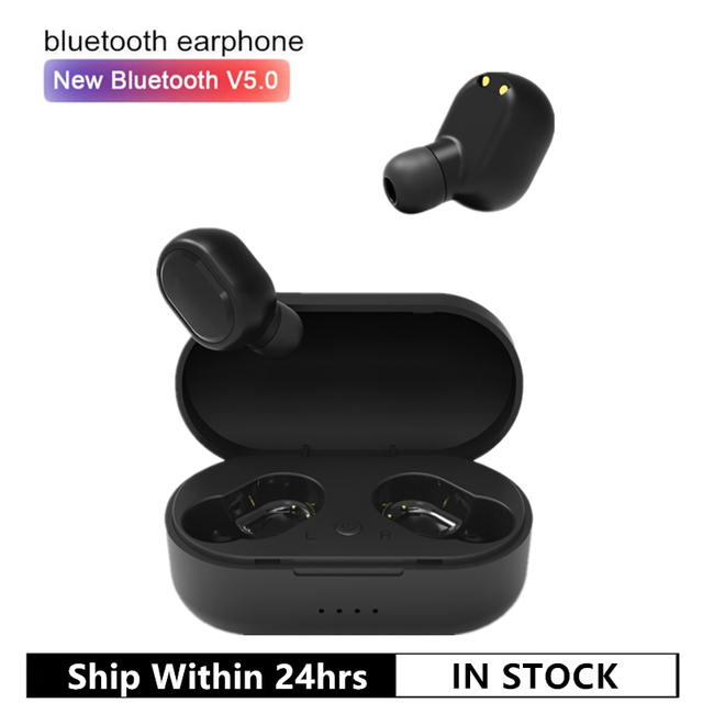 M1 5.0 Bluetooth Earphone VS Redmi Airdots Wireless Earbuds TWS Noise Cancelling Handsfree Headset with Charging Box for Phone