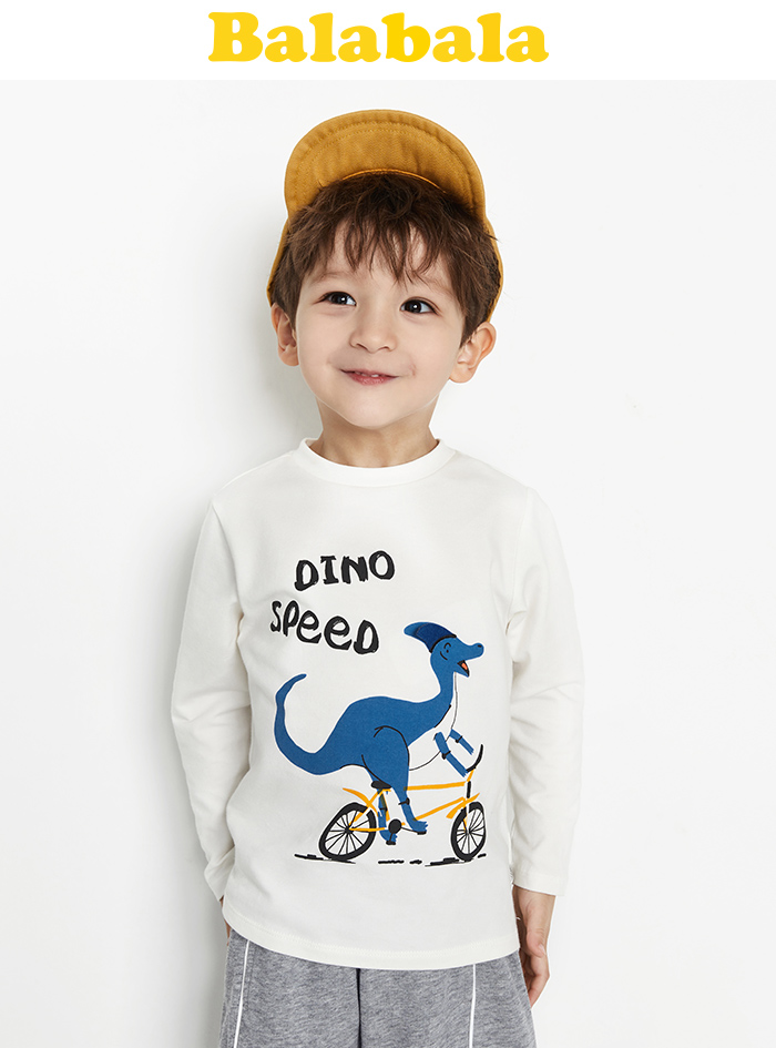 Cool Dinosaur Birthday Boy Raptor T-Rex Boy Toddler//Kids Long sleeve T-Shirt