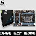 Материнская плата VEINEDA X79 G288 LGA2011 ATX  материнская плата USB3.0 SATA3.0 PCI-E 16X с поддержкой оперативной памяти DDR3 1600 МГц PC3 SSD и процессора E5