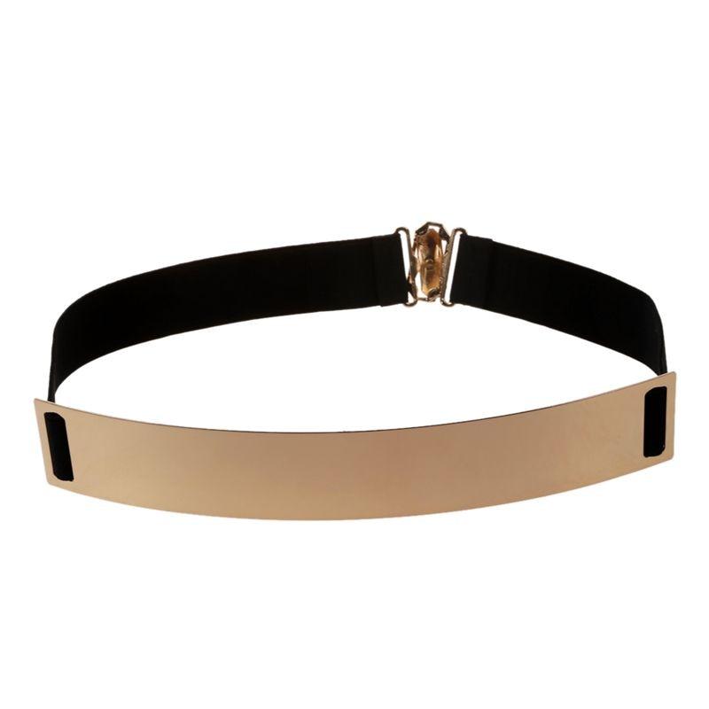 Women's Mirror Metal Waist Belt Metallic 25*4cm