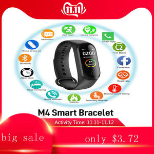 Pedometer Monitor Sports-Bracelet Color-Screen Blood-Pressure-Heart-Rate M4