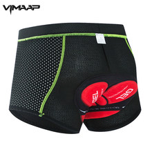VIMAAP Upgrade Cycling Shorts Mesh Men's Cycling Underwear 5D Gel Pad Shockproof Cycling Underpant MTB Shorts Bike Underwear