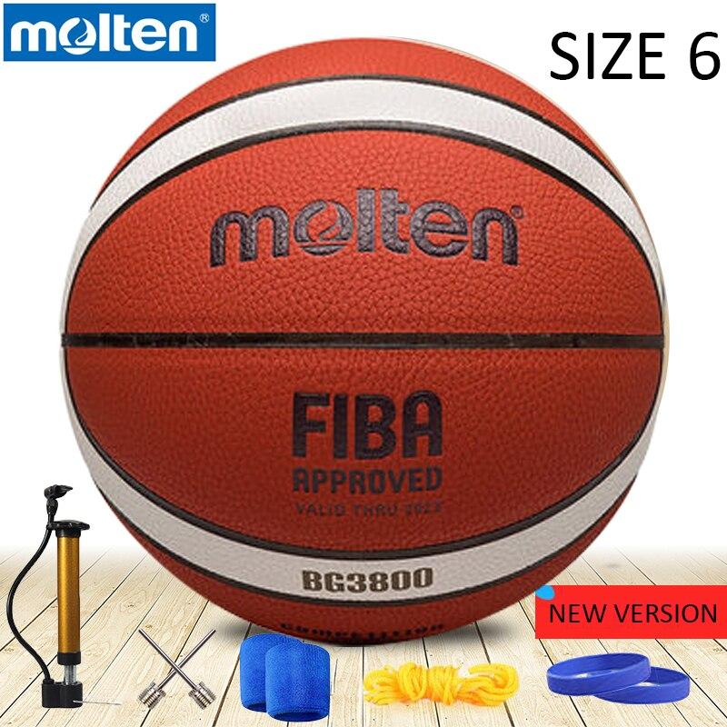 Original Molten Basketball Ball GM6X B6G3800 2019NEW Version High Quality  Molten PU Material Official Size6 Indoor Basketball
