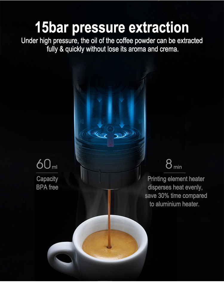 Portable Car Coffee Maker Capsule coffee Machine Espresso Maker Household Office Outgoing Coffee Machine