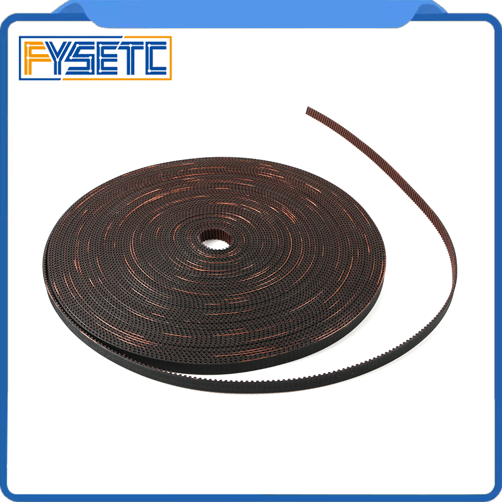 GATES-LL-2GT 2GT Belt Opened Fiberglass Rubber GT2 Timing Belt 2GT-6 L 2M 5M Width 6mm For Prusa I3 MK3 MK3S  Ender-3 CR10 ANET