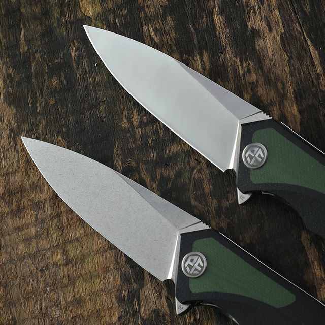 Original PF838 Petrified fish D2 steel blade folding knife G10 handle 59-60HRC hunting knives outdoor Rescue EDC Cutting tools 5