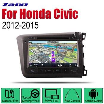 Android 2 Din Auto Radio DVD para Honda Civic 2012, 2013, 2014, 2015 coche Multimedia Player sistema de navegación GPS Radio Estéreo RHD